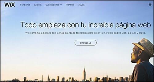 crear web con wix