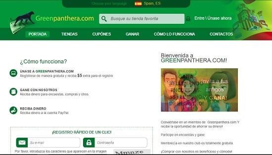Green Panthera ganar dinero en internet viendo publicidad