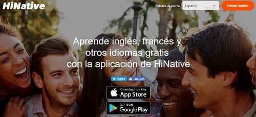 HiNative el Yahoo respuestas de idiomas