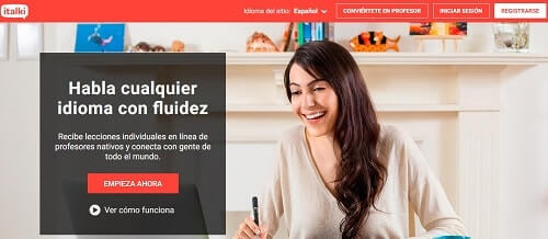 Italki contacta con profesores de idiomas