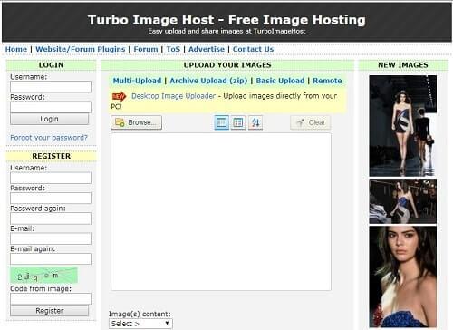 TurboImageHost donde subir imagenes