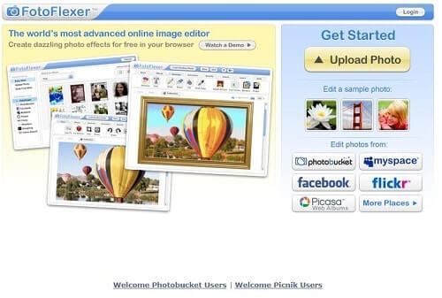 fotoflexer programas para editar fotos online