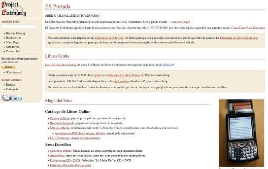Proyecto Gutenberg leer libros online sin descargar