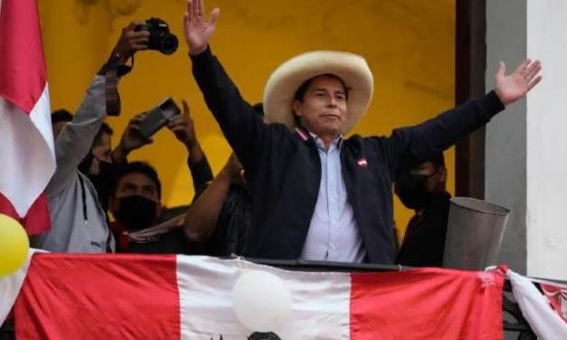 PERÙ. La sinistra ha vinto, Pedro Castillo è presidente.