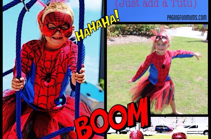 How to make a Spidergirl Costume – with a 'no sew' tutu – Louise