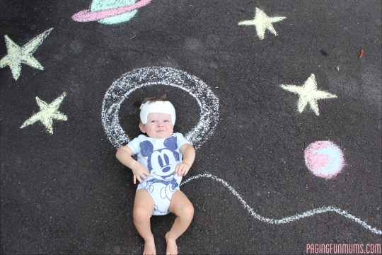 Getting in on the chalk action!