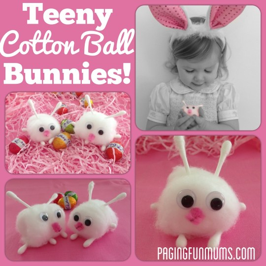 Teeny Cotton Ball Bunnies!