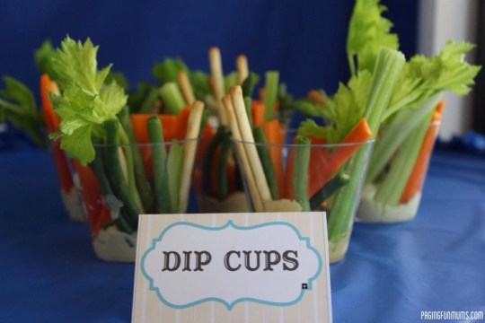 Individual Dip Cups = No double dipping!