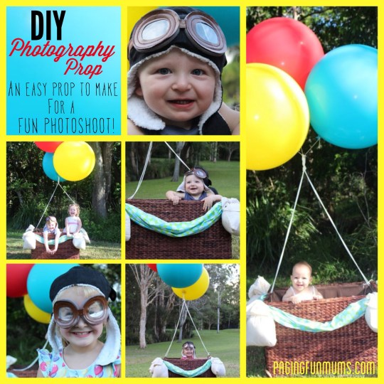 DIY Hot Air Balloon Photo Prop