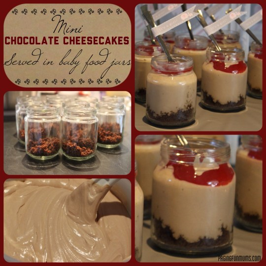 Mini Chocolate Cheesecake Jars