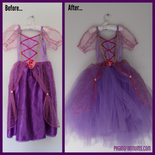 Princess Ball Gown with no sew tutu