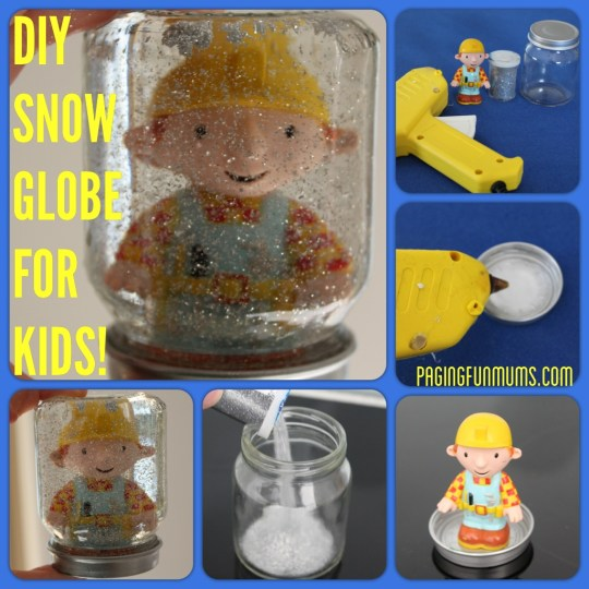 DIY Snow Globe for kids!