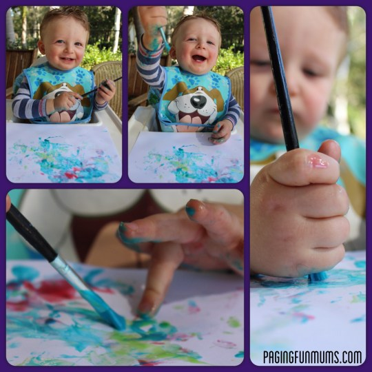 DIY Sensory Play Paint for toddlers
