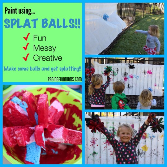 FUN Painting Activity - using homemade Splat Balls!
