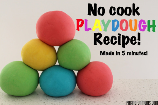 No Cook Playdough Recipe…made in 5 minutes