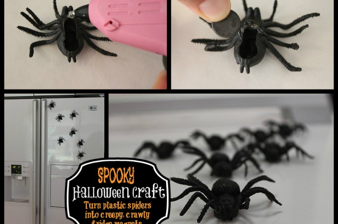 Easy Spider Magnets for Halloween
