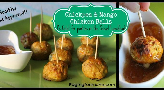 Chickpea & Mango Chicken Balls