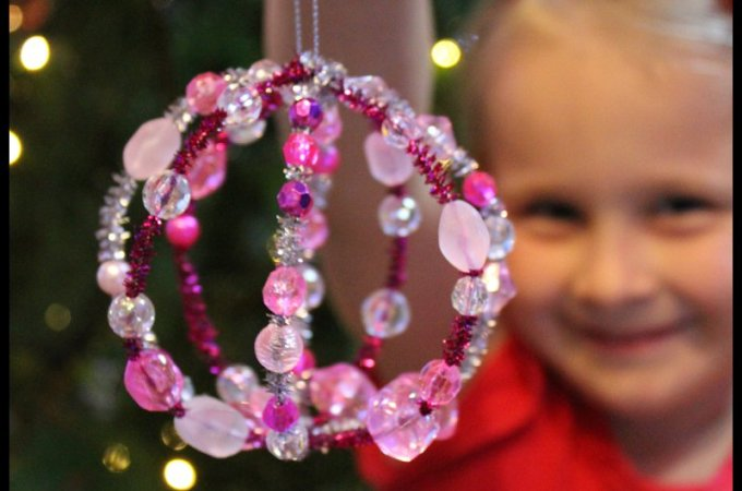 DIY Beaded Christmas Bauble