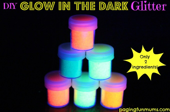 DIY Glow in the dark Glitter!