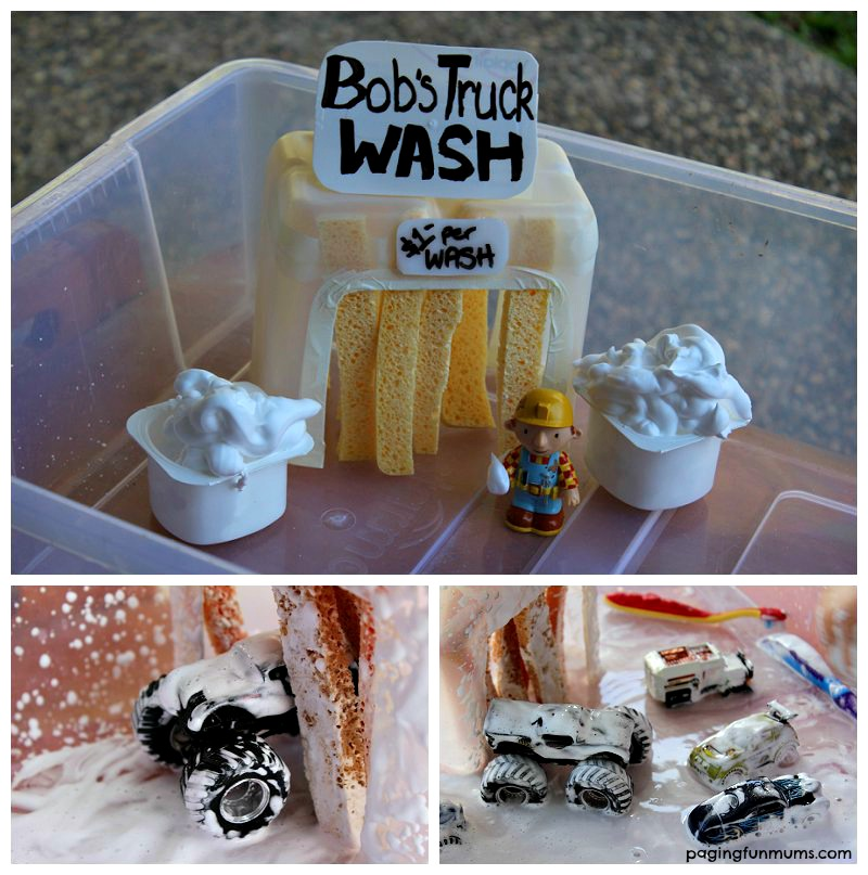 Cool DIY Toy Car Wash that the Kids will love to play with.