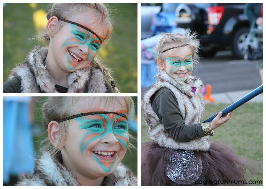 Astrid Costume - Amazing Face Paint!