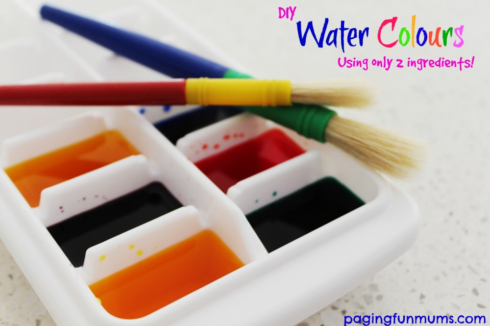 DIY Water Colours using only 2 ingredients