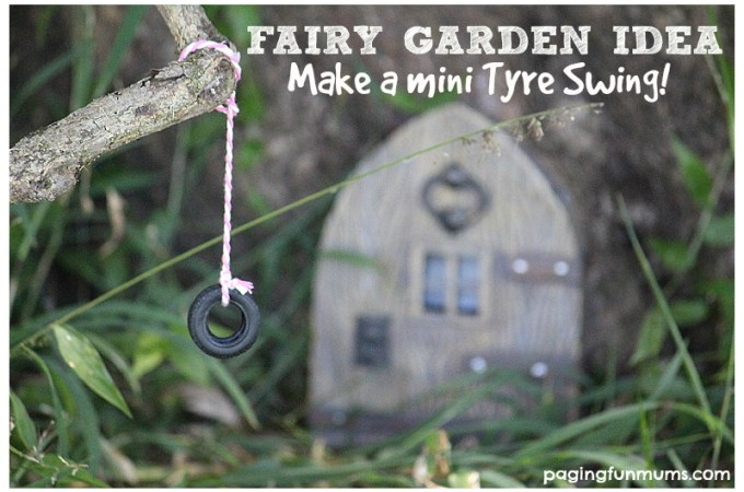 DIY Mini Tyre Swing – perfect addition to any fairy garden!