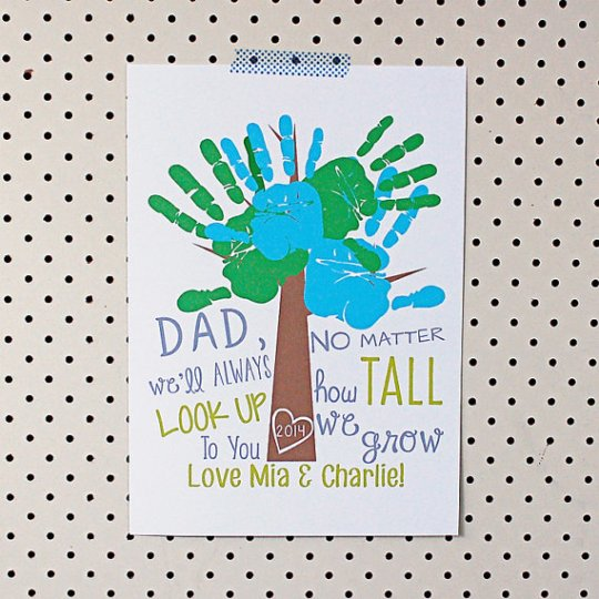 Father's Day Handprint Poster