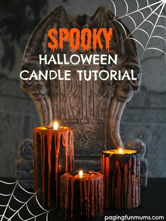 DIY Halloween Candle Centrepiece using Crayons!