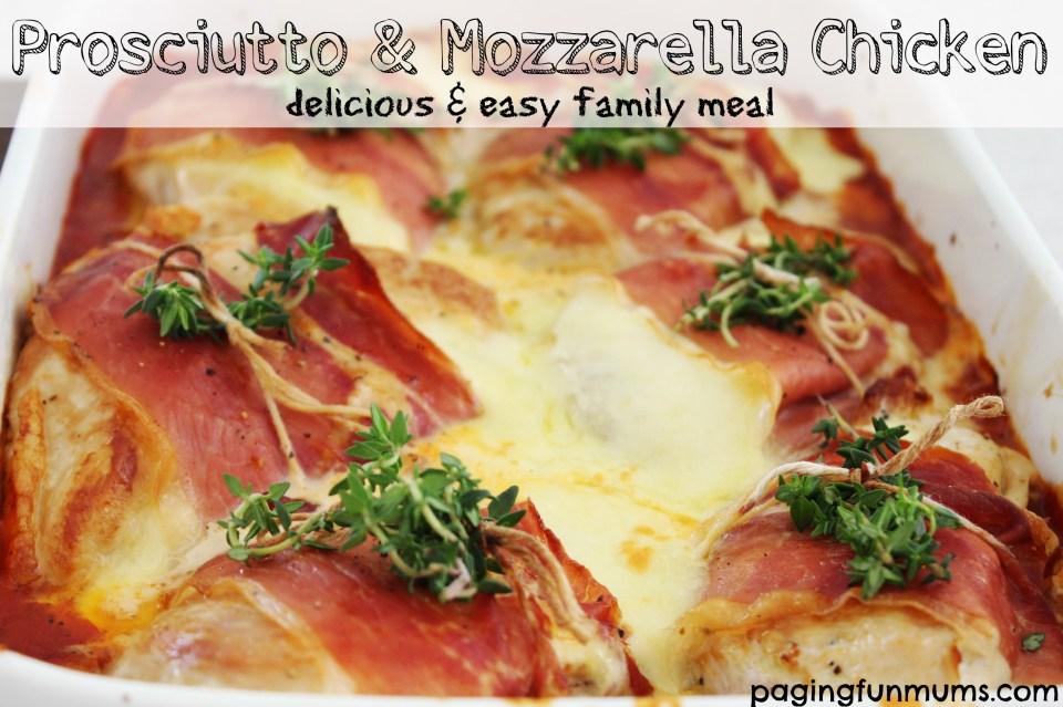 Prosciutto & Mozzarella Chicken