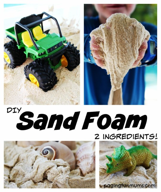 2 ingredient Sand Foam