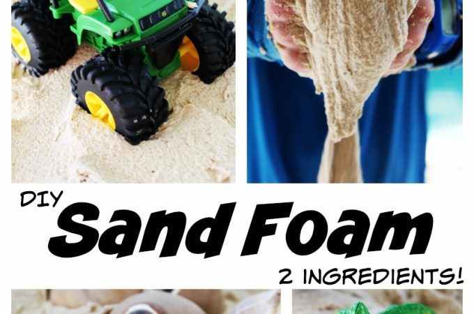 Sand Foam…two ingredients for super, sensory fun