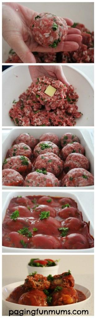 Mumma's Cheesy Tomato Meat Balls