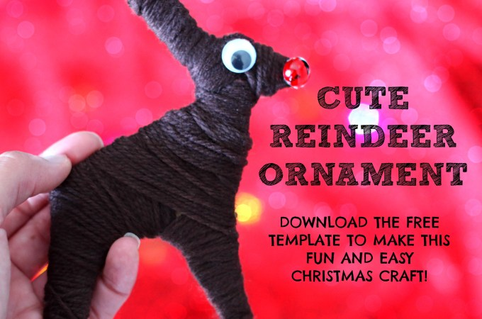 Cute and Easy Reindeer Christmas Craft