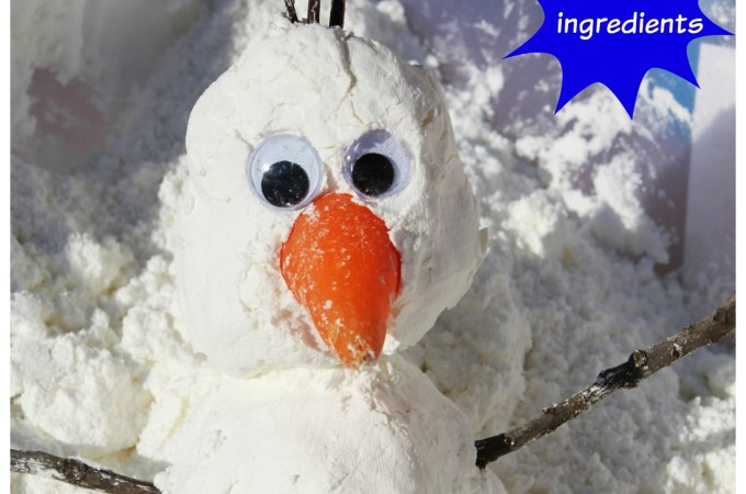 Make your own Olaf from Frozen with TWO ingredients!