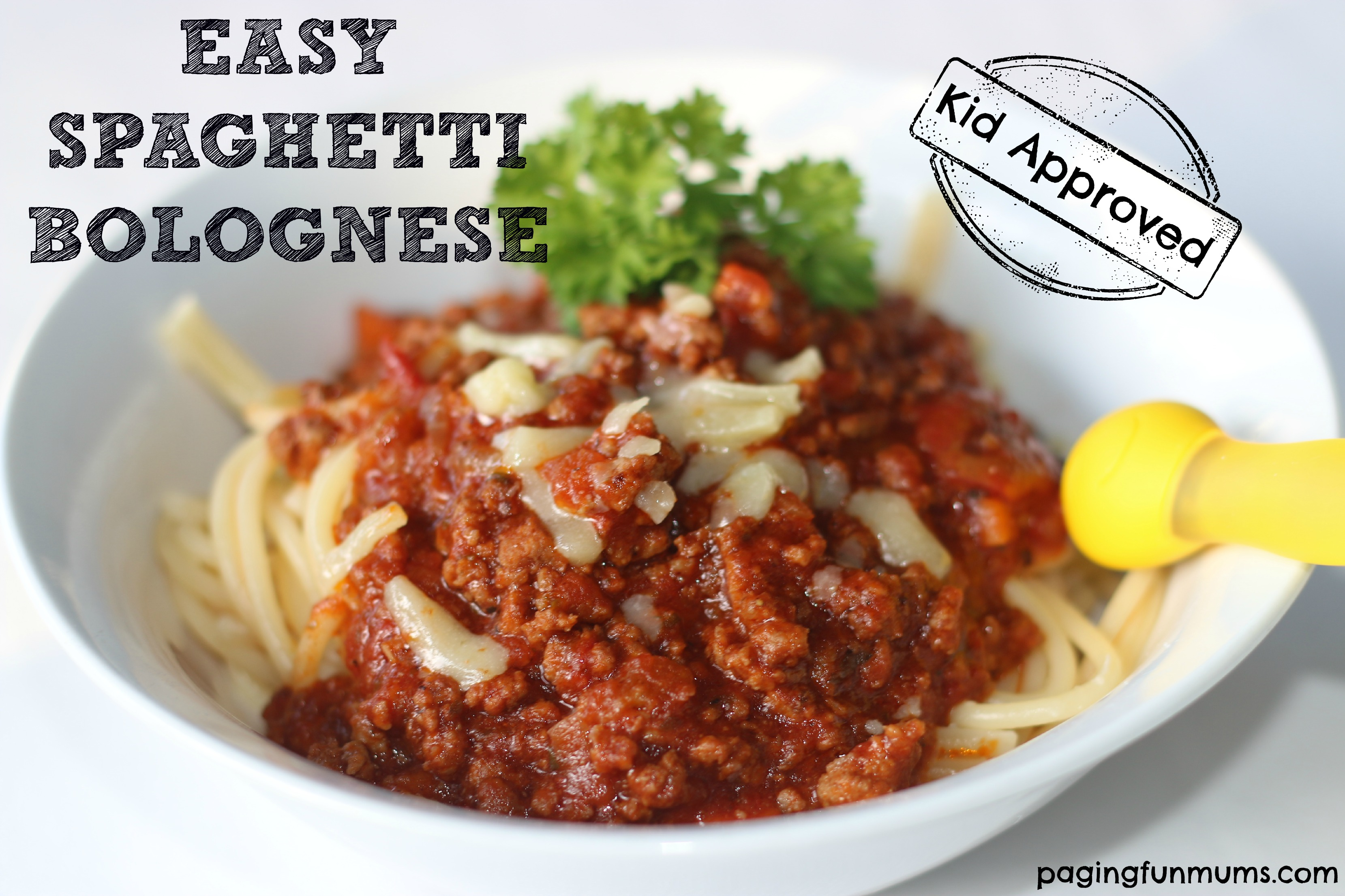 Easy Spaghetti Bolognese Recipe that our familiy loves!