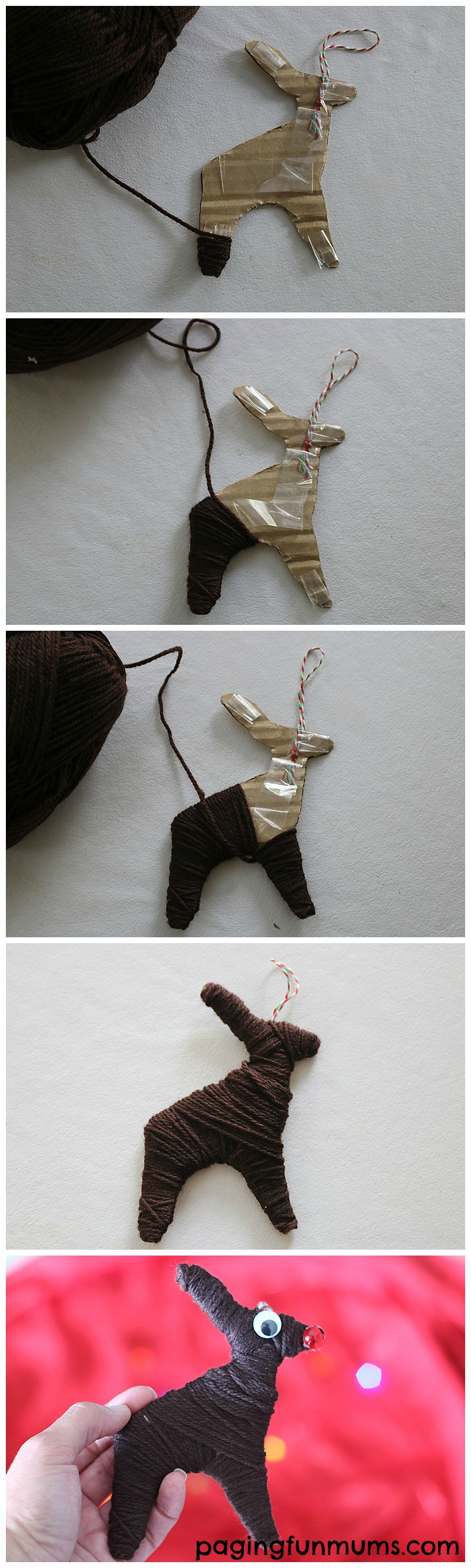 How to make a Cute Reindeer! Download the FREE Template here!