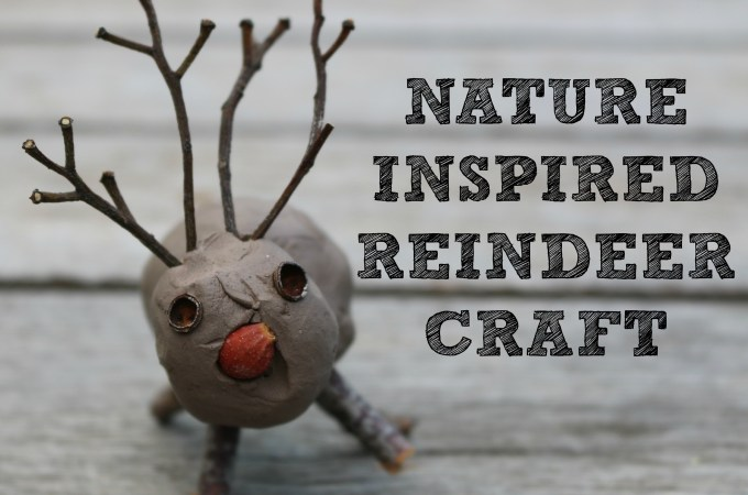 Nature Inspired Reindeer Craft