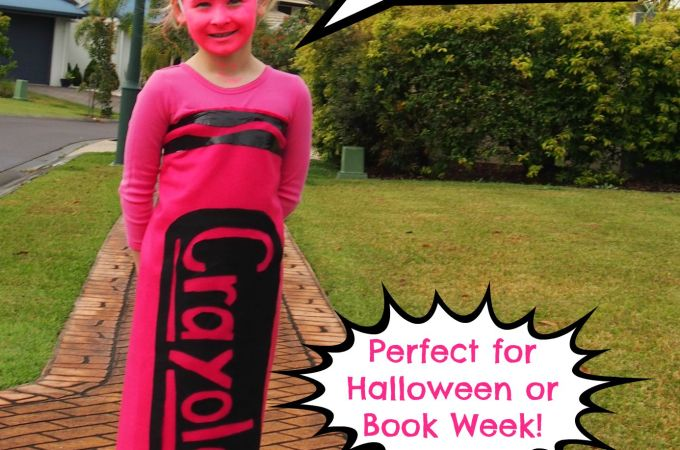 DIY No Sew Crayon Costume