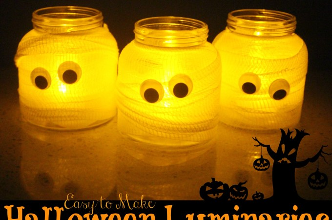Easy to make Spooky Halloween Luminaries