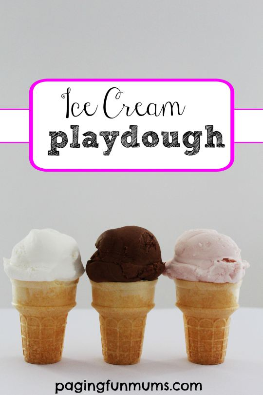 Ice-cream-playdough-cones