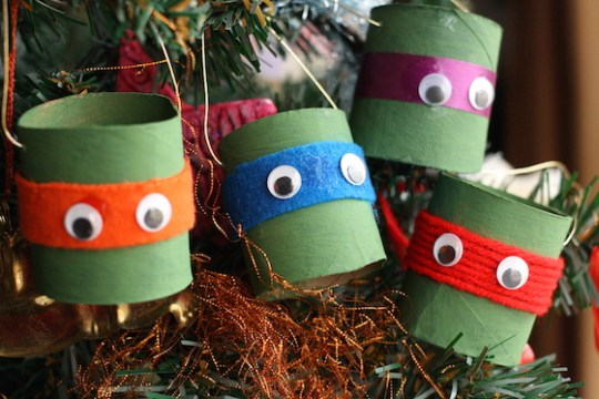 TMNT Toilet Roll Ornaments