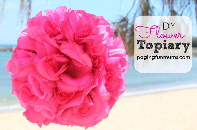 DIY Flower Topiary