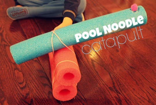 pool noodle catapult cross process