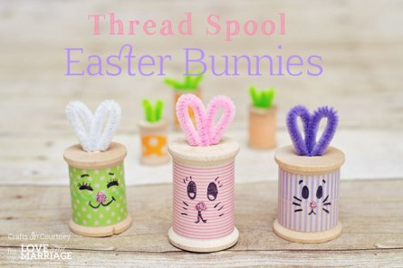 Thread Spool Easter Bunnies