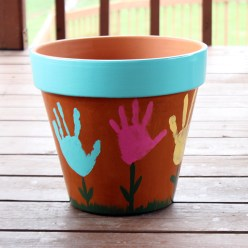 Handprint Flower Pot