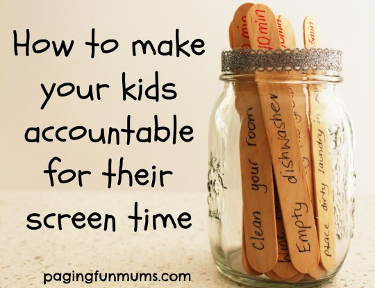 How to make your kids accountable for their screen time sticks