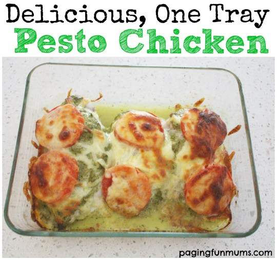 Delicious One Tray Pesto Chicken