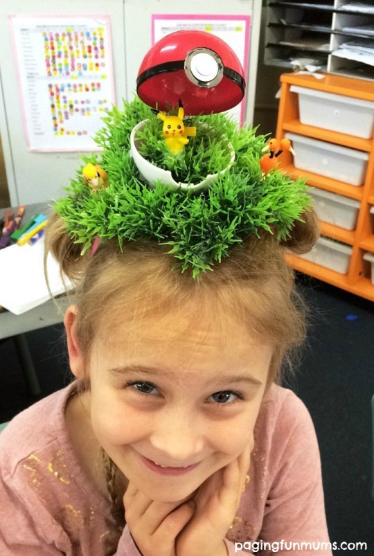 Crazy Hair Day idea! Pokemon Go!
