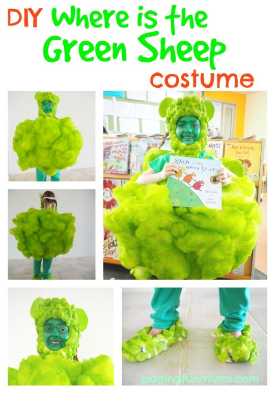 Cute DIY Where is the Green Sheep costume